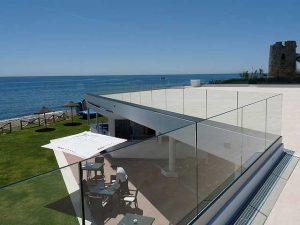 barandilla cristal terraza