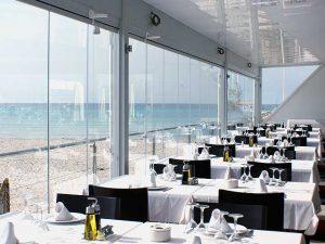 cortina cristal restaurante