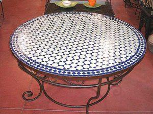 mesa hierro redonda
