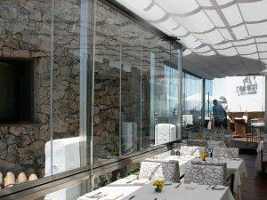 restaurante acristalamiento