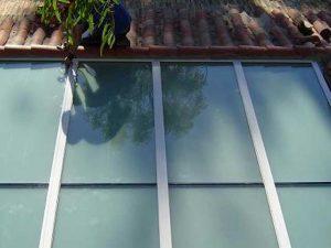 techo aluminio cristal