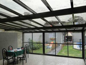 techos cristal transparente