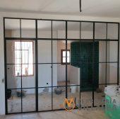 Cerramientos interiores de hierro y cristal
